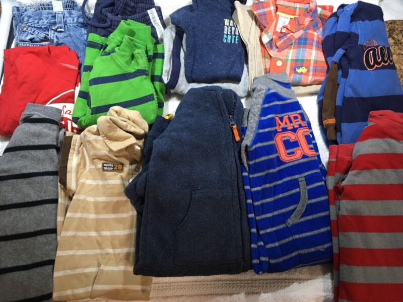 Boys Size 12 Months Fall / Winter Clothes~lot Of 14~ec~carter