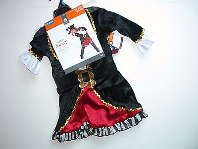 Pirate Baby Girl Costume (NWT NEW Pirate Dress Hat Halloween Costume Toddler Infant Child 18-24M)