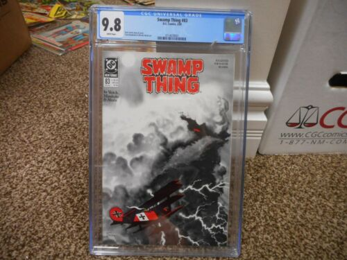 Swamp Thing 83 cgc 9.8 DC 1989 COOL cover WHITE pgs NM MINT TV show airplane