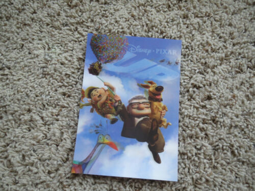 """UP with Dug Carl, Kevin, Russell Disney Movie Club 3D 5"""" x 7"""" Lenticular Card"""