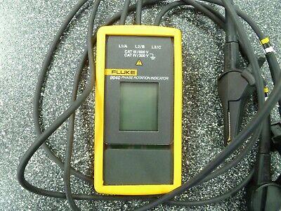 Fluke 9040 Phase Rotation Indicator 40-700v 15-400 Hz. Used.