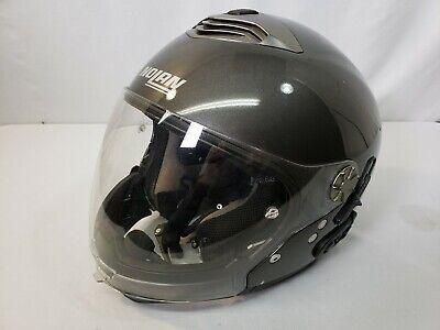 Nolan N43 Trilogy Motorcycle Gloss Grey Helmet w/ N-Com - Size M (Gray N-com Helmet)