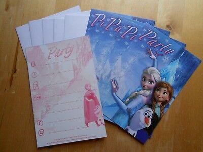 5 Disney Frozen Einladungskarten mit Umschlägen Eiskönigin Party Geburtstag b