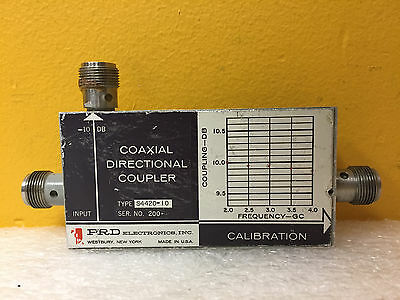 Prd S4420-10 2 To 4 Ghz 10 Db Type N F Coaxial Directional Coupler