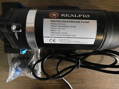 Realfio 110-120v Self-prime Diaphragm Water Pump High Pressure 160 Psi
