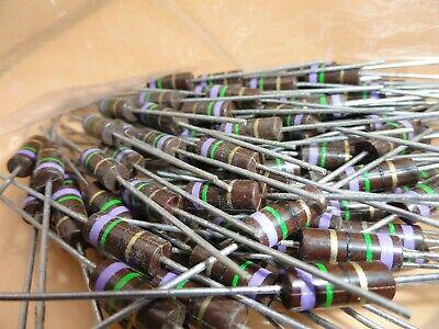 Allen Bradley 75 Ohm 1 Watt Resistors Lot Of 100 A6