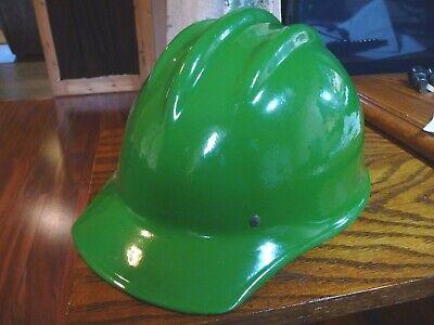 Vintage Bullard 502 6 Point Fiberglass Hard Hat Painted Green- Iron Worker