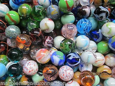 MARBLE LOT 2 POUNDS OF VACOR 1 INCH CLEAR GLASS CRYSTAL MARBLES FREE SHIPPING