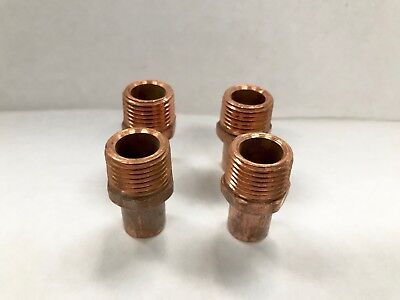 12 Inch Copper Fitting Street Male Threaded Sweat Solder X Mpt Adapter Lot 4