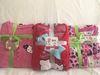 Kitty Pj Set (Hello Kitty Ladies Woman Fleece Pajamas Set - You Pick - Henley Pullover & Socks )