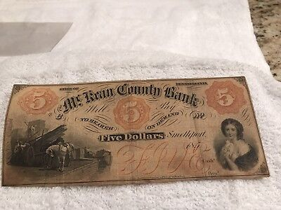 Mckean County Bank Five Dollar Note