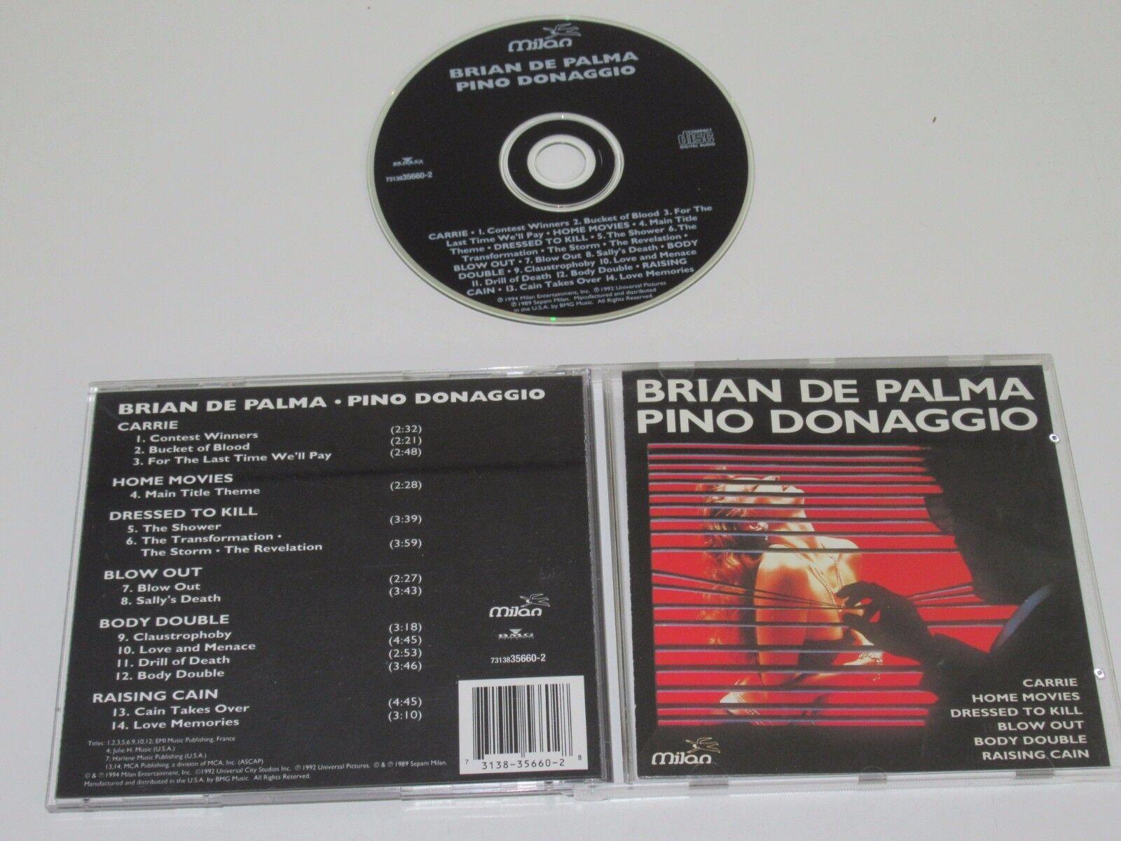 PINO DONAGGIO/BRIAN DE PALMA(MILAN 7313835660-2)CD ALBUM