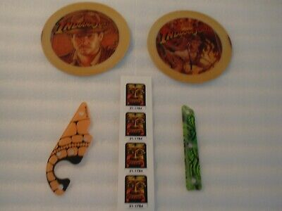 INDIANA JONES WILLIAMS PINBALL LOT NEW PLAYFIELD PLASTICS, DECALS, SPKR ROUNDS!