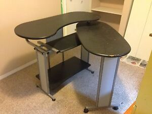 Expandable desk and  office chair