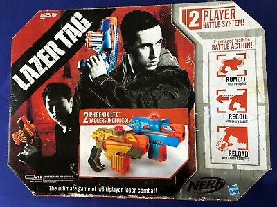 Nerf Lazer Tag Phoenix LTX 2-Pack Laser Taggers Multiplayer Combat Battle System