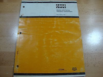 Case Avs 1100 1300 1900 Vibratory Plate Compactor Parts Catalog Manual 177