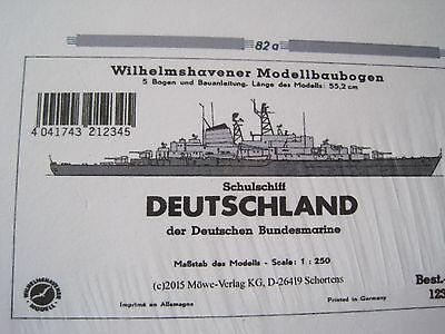 Deutschland Schulschiff  Wilhelmshavener Modellbaubogen Bastelbogen Kartonmodel