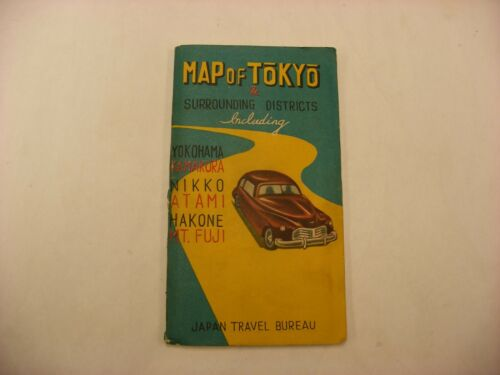 Vintage Map Of Tokyo Japan Travel Bureau