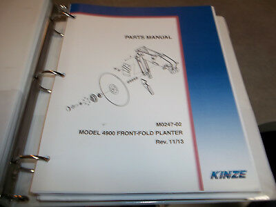 Kinze 4900 Front Fold Planter Parts Manual
