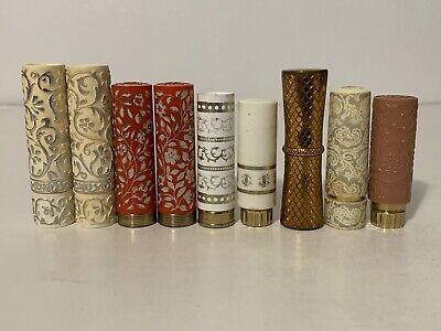 Lot 9 Vintage 50s 60s Lipstick Tubes Metal Holders Case Helena Rubinstein Revlon