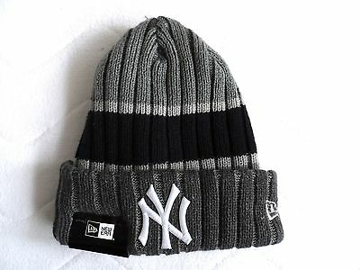 0353fd33fa1 New Era NEW YORK YANKEES Grey Navy BEANIE TUQUE Hat Baseball MLB USA COMFY  Tags