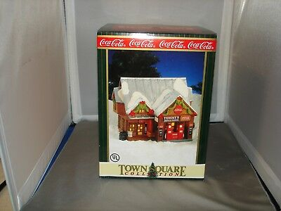 coca-cola town square collection tommys service station 1998 with package lot #5