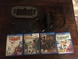 PS Vita with 4 games