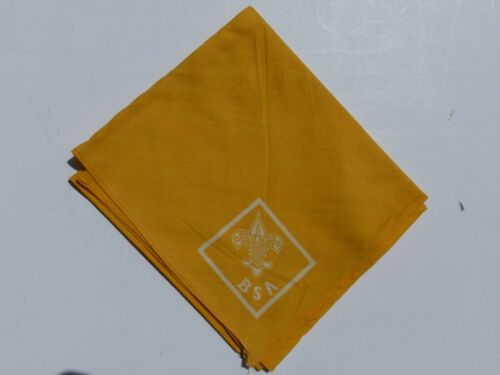 Used Vintage Official Boy Scout BSA Solid Gold (Yellow) Triangle Neckerchief