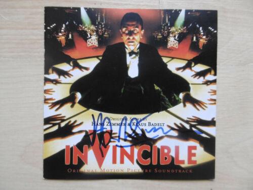 "Hans Zimmer Composer signed CD booklet ""Soundtrack - Invincible"" autograph"