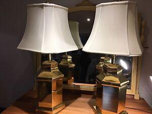 Paire de lamp en laiton