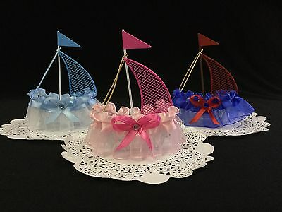 Nautical Sailboat Cake Topper, Baby Shower, Party Favor, Decoration