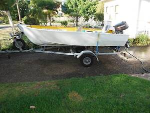 Tinnie 11.5ft with trailer and 5hp motor. Sutherland Sutherland Area Preview
