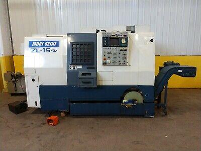 18x25 Mori Seiki Zl-15 Smc Twin Spindle Cnc Lathe W Fanuc Controls Ybm 13146