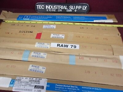 A2 A-2 Tool Steel Lot Of 13 Asorted 18 Thick Flat Stock In Various Sizes Raw79