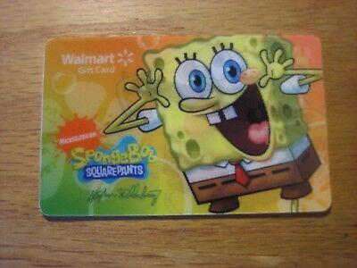 WAL* MART SPONGEBOB SQUAREPANTS GIFT CARD