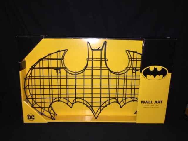 DC Batman Bat Symbol Metal Wire 3d Wall Art Decor Deco MIB | eBay