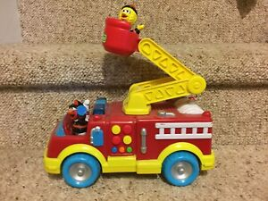 Sesame Street fire truck and characters