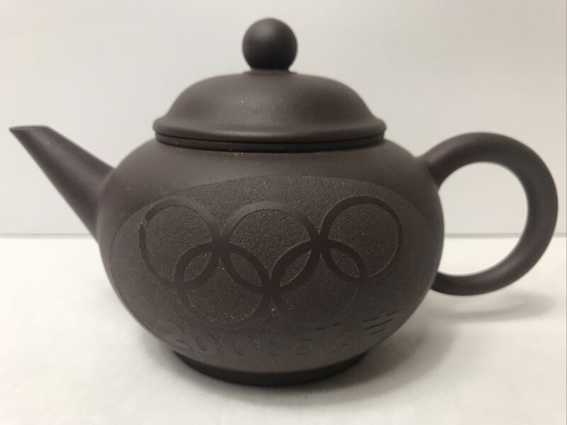 Chinese Yixing Clay 2008 Beijing Olympics Teapot Marked