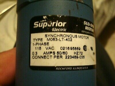 Superior Electric Slo-syn Stepping Motor Belt Shaft And Pulley 115 V Ac 0.3 A