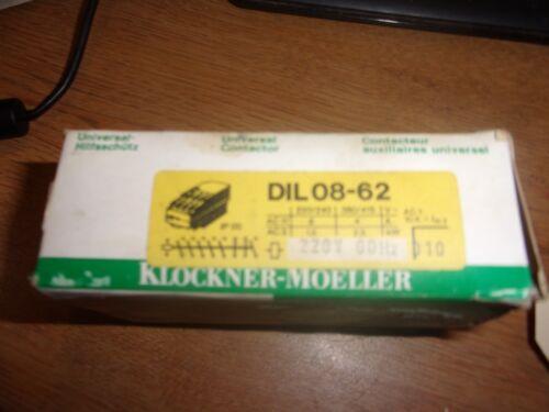 NIB  KLOCKNER MOELLER  DIL 08-62  CONTACTOR    (12772 )