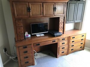 Beautiful solid wood computer desk