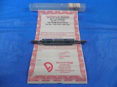 Certified 8 32 Unc 2a Set Vermont Thread Plug Gage 8 .164 Go No Go .1428 .1399