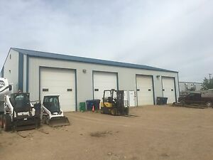 Industrial shop with lot space south industrial Warman.