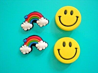 Jibbitz Croc Clog Shoe Plug Button Charm WristBand Accessorie Rainbow Smile Face