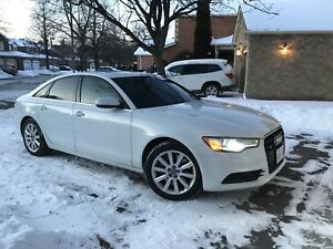 2012 Audi A6 3.0T White on Peanut Butter Well Maintained