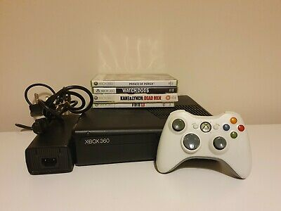 Microsoft Xbox 360 S 250GB Black Console Bundle. 4 games. Official controller.