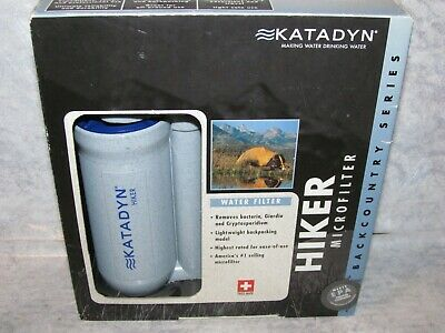 NEW Katadyn Hiker Microfilter Backcountry Series Portable Backpack Water Filter