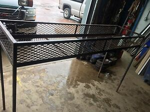 Landscape trailer rack