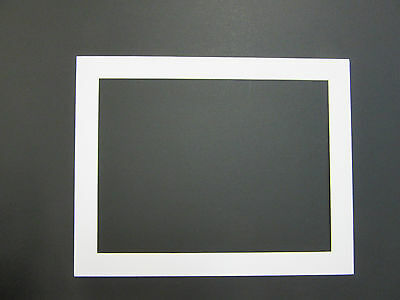 Picture Framing Mats 11x14 for 10x13 photo White rectangle opening Set of 16
