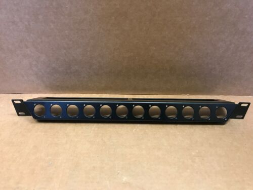 Neutrik NZP1RU-12 Angled Rack Panel with Twelve D-Shaped Cutouts (1 RU)